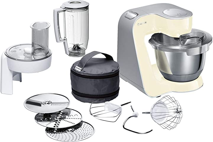 Bosch mum58920 macchina da cucina 3,9 l, acciaio inossidabile, beige/argento