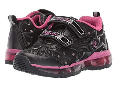 Geox Kids Jr Android 24 (Toddler) (Black/Pink) Girls Shoes