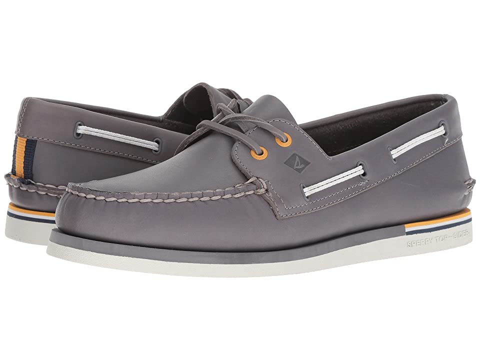 Sperry A/O 2-Eye Nautical Leather (Grey Leather) Men