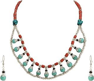 Zephyrr Latest Design Handmade Tibetan Beads Necklace Earrings Set Fashion Boho Statement Jewelery For Women (JAN-2329)