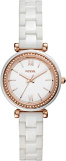 Fossil Women's Carlie Mini Stainless Steel and Ceramic Casual Quartz Watch
