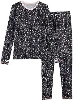 Girls Winter Base-Layer Thermal Underwear top Bottom Set Thumbhole