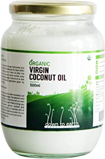 Down To Earth Organic cold pressed Virgin Coconut Oil - 500 ml