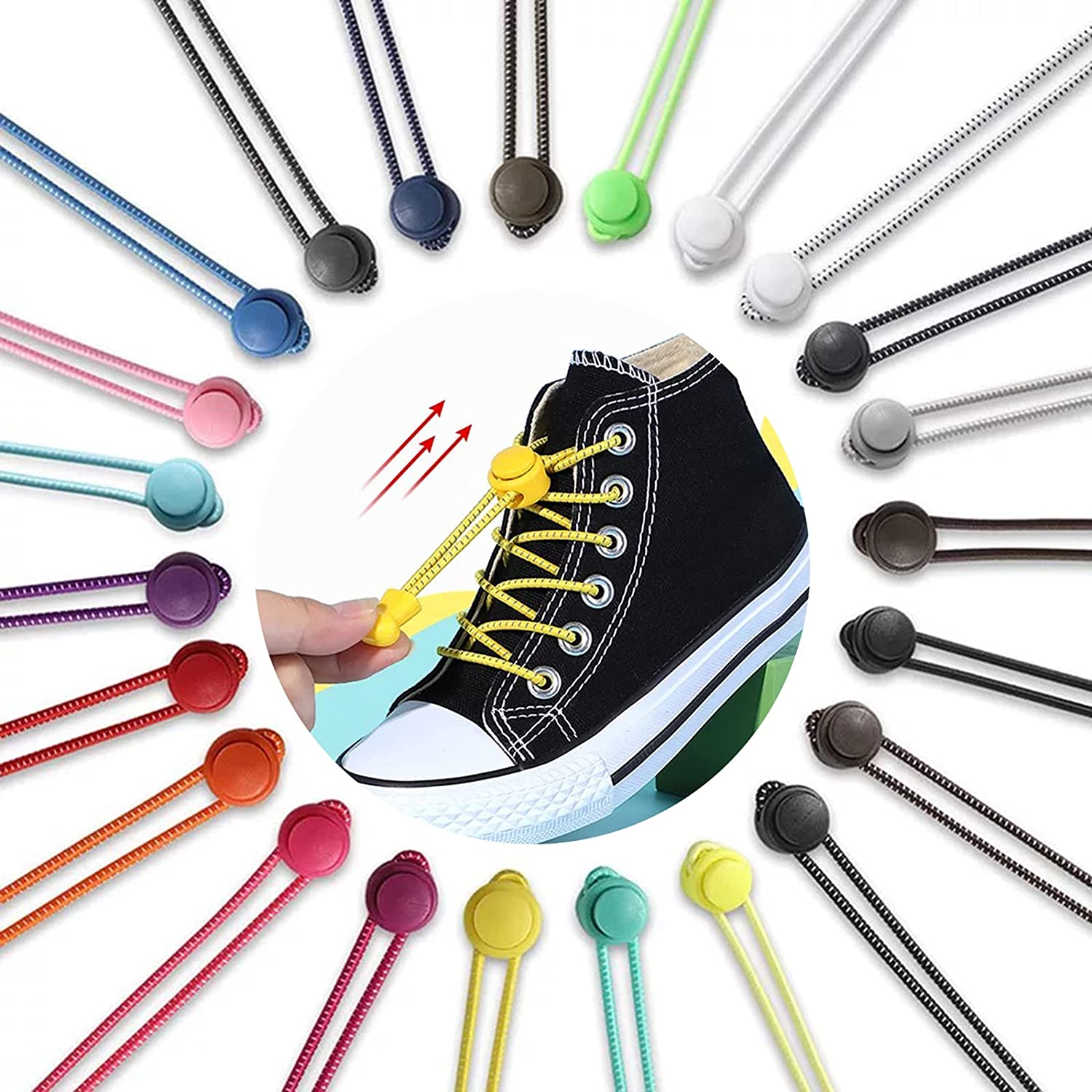 4 Time sale Pairs Extended No Tie Shoelaces Elasticity Adjus Max 69% OFF and High with