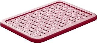 Rotho Country Couvercle en Rotin pour Boîte de Rangement Pays A5, Plastique (PP) sans BPA, Rouge, A5 (28,4 x 18,9 x 1,3 cm)