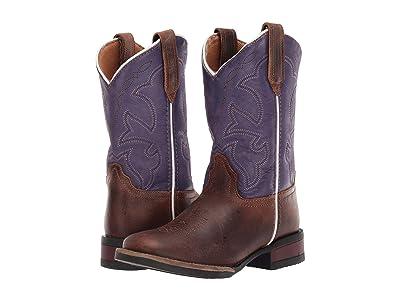 Roper Kids Monterey (Toddler/Little Kid) (Brown Leather Vamp/Purple Shaft) Girls Shoes