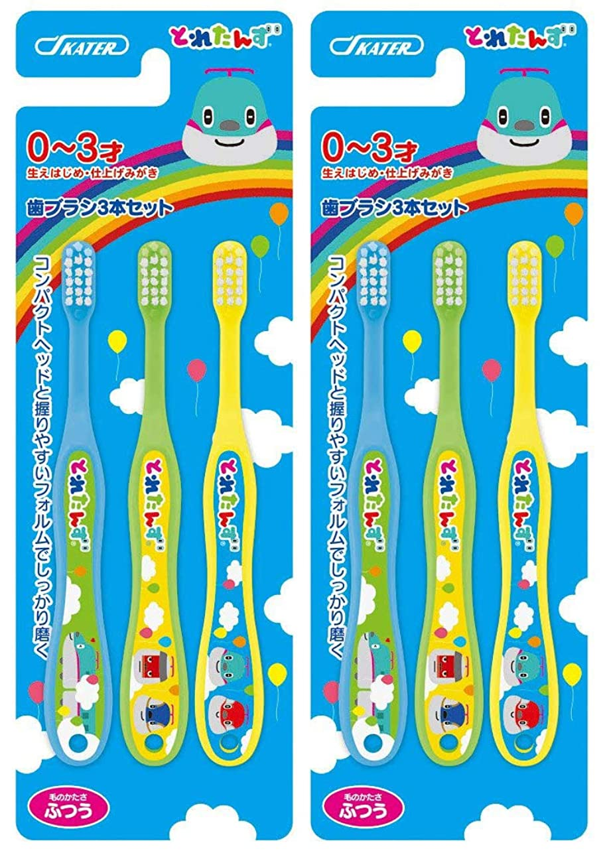 普通に休眠独立したスケーター 歯ブラシ 幼児期用 0-3才 普通 6本セット (3本セット×2個) とれたんず 15cm TB4T