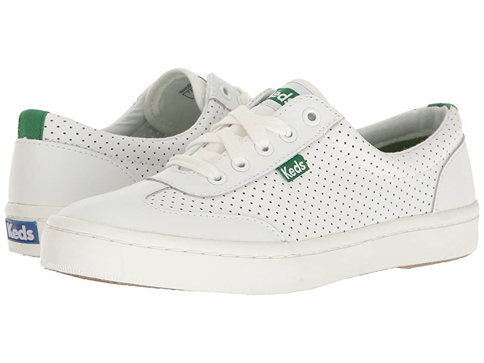 Keds Tournament Retro Perf (White/Green) Women