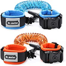 Anti Lost Wrist Link, Dr.meter Toddler Safety Leash with Key Lock, Reflective Child Walking Harness Rope Leashes for Kids/Babies, 2.5M Blue + 1.5M Orange
