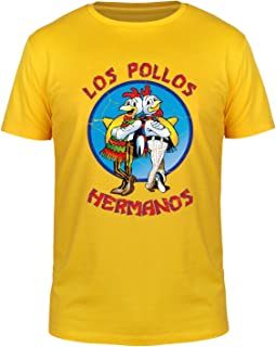 FABTEE - Los Pollos Hermanos - Herren T-Shirt   Plus Gratis-Aufkleber   bis Größe 4XL als Geschenk zu Weihnachten, Geburtstag oder einfach so