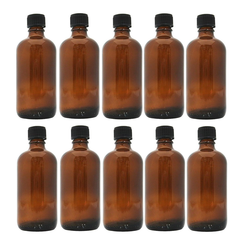 腐食するバングラデシュ収穫茶色遮光瓶 100ml (ドロッパー付) 10本セット