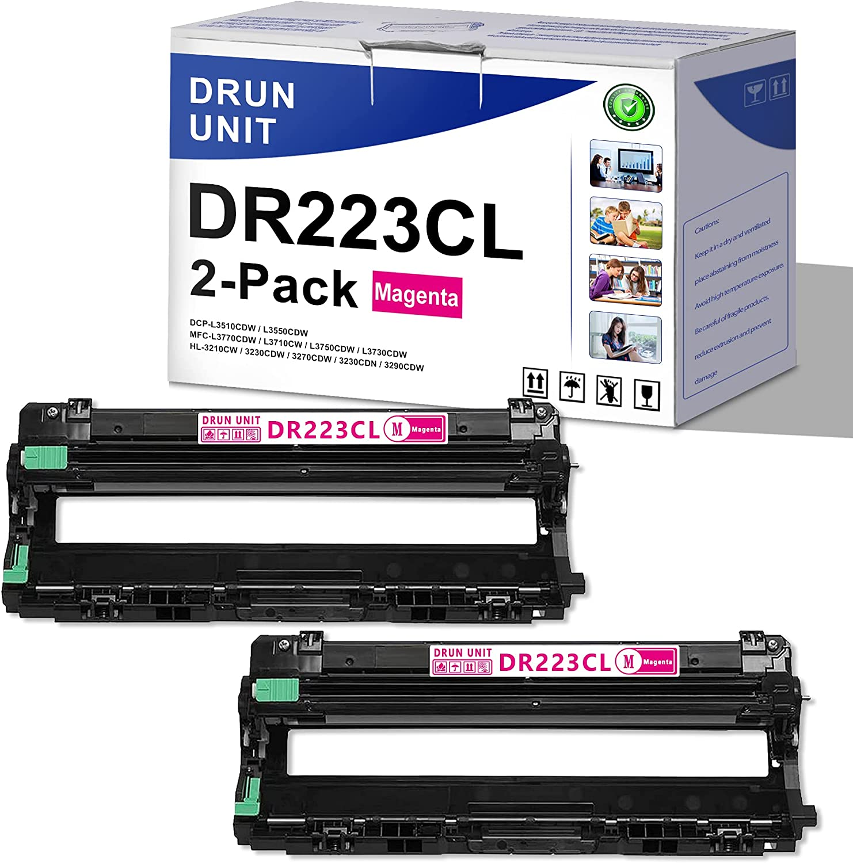 [2 Pack,Magenta] DR223CL DR-223CL Compatible Drum Unit ReplacementforBrother HL-3210CW 3230CDW 3270CDW 3230CDN 3290CDW MFC-L3770CDW L3710CW L3750CDW L3730CDW DCP-L3510CDW L3550CDW Printer Drum Unit
