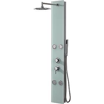 DP Grifería - Columna de ducha hidromasaje en cristal, color ...