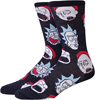 Rick and Morty Floating Faces Adult Crew Socks