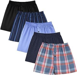 Classic Boxers Shorts Cotton Woven Mens Underwear Boxers Pack
