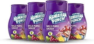 Hawaiian Punch, Wild Purple Smash, Liquid Water Enhancer – New, Better Taste! (4 Bottles, Makes 96 Flavored Water Drinks) – Sugar Free, Zero Calorie