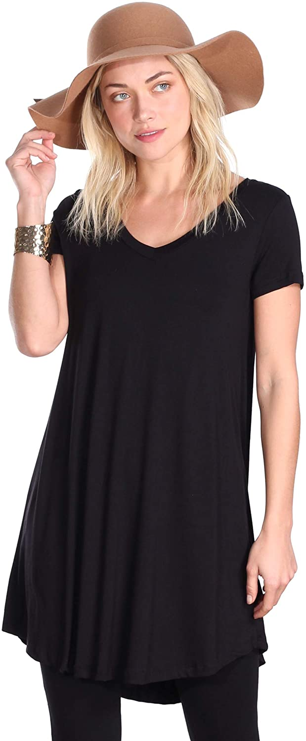 Factory outlet Popana Max 48% OFF Women's Short Sleeve Summer Tunic P Top for Leggings
