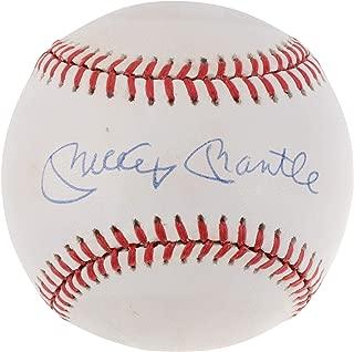 Mickey Mantle & Frank Robinson Autographed Vintage Baseball - JSA Certified - Autographed Baseballs
