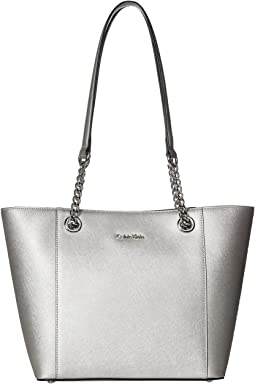 Hayden Key Item Saffiano Leather Tote