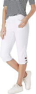 Women's Millennium Stretch Bow Trim Comfort Waist Capri Pants