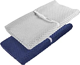 Standard Changing Pad Cover Navy BlueWhite Lattice