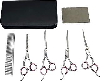 Sponsored Ad - YL TRD Dog Grooming Scissors Kit Hair Cutting Set, Pet Trimmer kit, Dog Shears for Grooming, Thinning Shear...