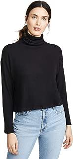 Women's Sweater Knit Cropped L/S Turtleneck