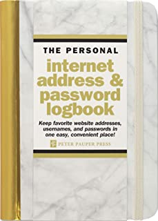 Marble Internet Address & Password Logbook