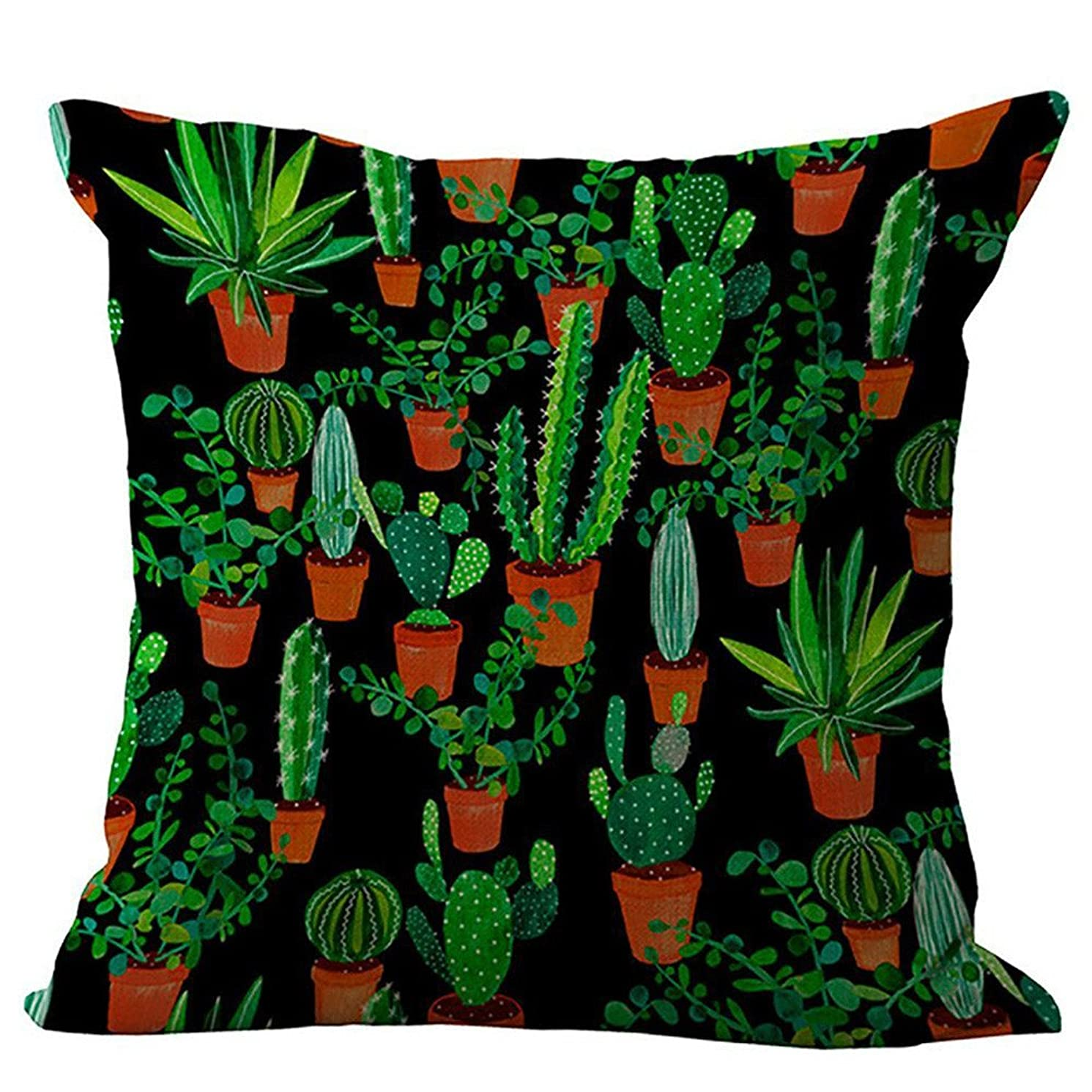 Print Series Throw Pillow Cover Decorative Outdoor Cushion Cover Pillow Case for Car Sofa Bed Couch 18 x 18 Inch