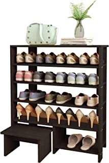 V-LIGHT Set of 4 Traditional Wood Wall Decorative Shelving, VS141003E Espresso Finish