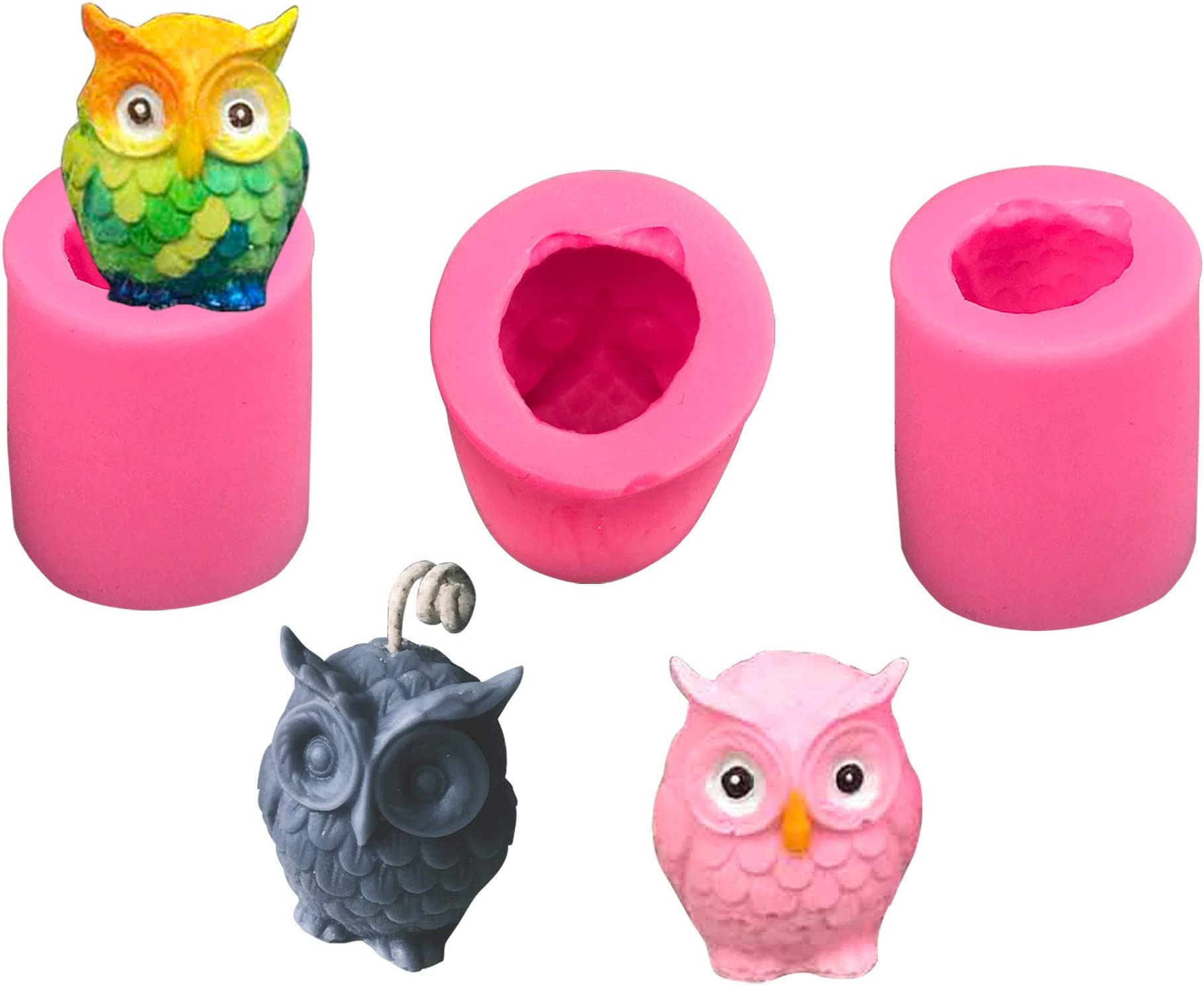 OWL SOAP MOLD Silicone soap making mould soap bar bird  plaster clay wax resin