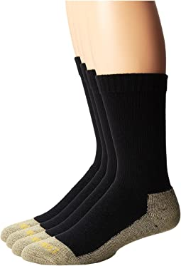 Dan Post Work & Outdoor Socks Mid Calf Mediumweight Steel Toe 4 pack