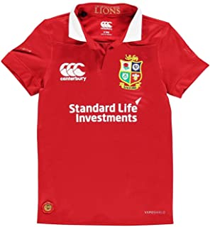 Official Brand Canterbury British and Irish Lions Jersey 2017 Junior Boys T Shirt Rugby Red