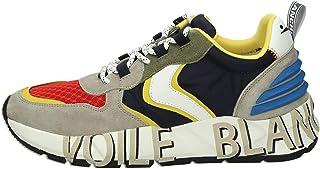VOILE BLANCHE Club 12-Sneaker in Tessuto Tecnico e Suede