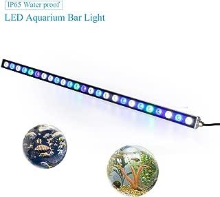 Roleadro Led Acuario,Luz Acuario con Lampara UV Acuario Impermeable IP 65,Iluminacion Acuario para Acuario Arrecife Coral Pescado Planta Crecer (81W)