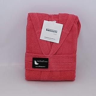 Bassetti Accappatoio con Cappuccio in Cotone Nuovi Colori Uomo Donna Disponibile in Varie Taglie e Colori (R1 Rosso, M)