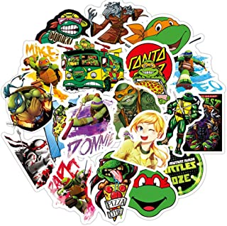32 Pcs Teenage Mutant Ninja Turtles Stickers for Water Bottles, Laptop Sticker Waterproof Vinyl Decal Sticker for Phone,Computer,Hydro Flasks,Cars,Bicycles,Mac Book,ski, PS4, Xbox ONE.…