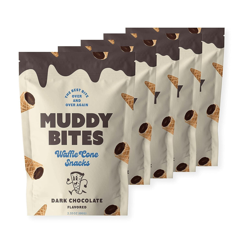 Muddy Bites Chocolate Filled Bite Size Snack Cone Waffle Classic Max 57% OFF Dark C