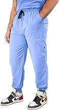 Mim Jogger Scrub Pants for Men, Straight Leg Joggers, Ceil Blue, Black, Navy Blue, Green