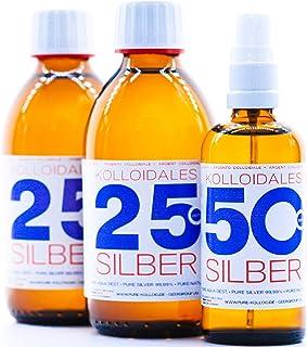 Kolloidales Silber 600ml 25ppm 2 * 250ml & Spray 50ppm 100ml Silberwasser ● tgl...