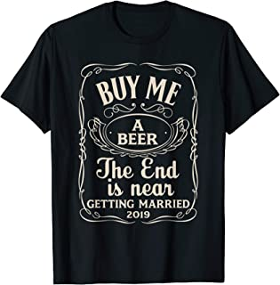 Mens Getting Married Shirts Guys Fiance Bachelor Party Gift Shirt