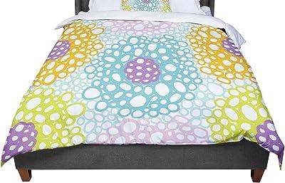 KESS InHouse Emine Ortega Retro Circles Pastel Twin Comforter 68 X 88