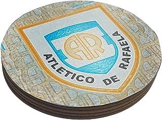 Azty Designs Four Round Coasters Glossy Custom Plastic Effect Argentina Futbol Soccer League