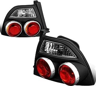 For 1994-1997 Honda Accord Pair Black Housing Skyline Style Tail Light Brake/Parking/Reverse Lamps