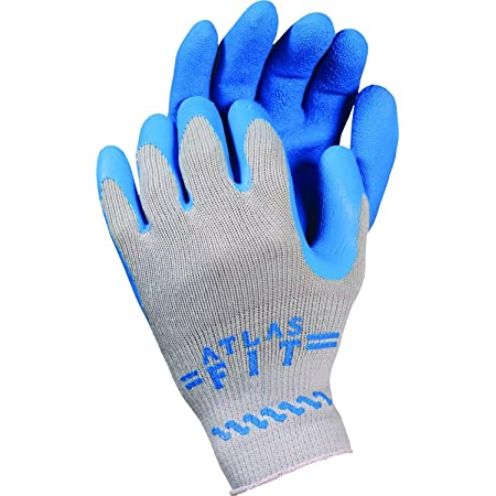 Atlas Fit Rubber Coated Gloves Showa 300 Size XLarge 12 Pair//1 Doz