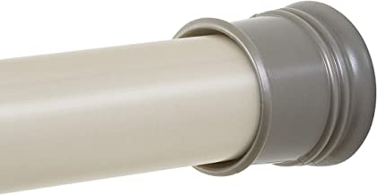 Zenna Home Adjustable Tension Shower Curtain Rod, 43 to 72-Inch, Brushed Nickel