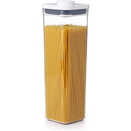 OXO Good Grips Boîte de conservation POP – Boîte de rangement alimentaire hermétique et empilable pour la cuisine - Carré, Petit format 2,1 L