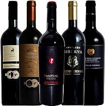 [Amazon限定ブランド] MTWS 厳選イタリア赤ワイン イタリア名家飲み比べ ソムリエ厳選ワインセット 赤ワイン 750ml 5本