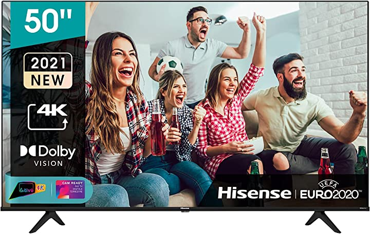 tv 50 pollici hisense uhd 4k 2021 50a68g smart tv vidaa 5.0 hdr dolby vision controlli vocali alexa 50a68g