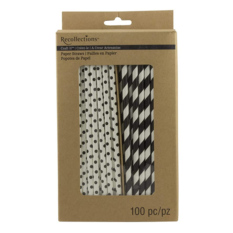 Printed Paper Straws, Black h4806391954